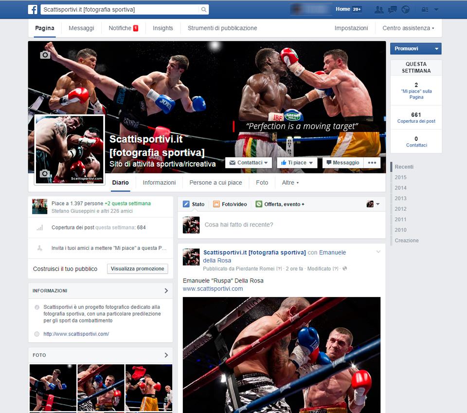 esempio pagina facebook: le dimensioni migliori per le immagini