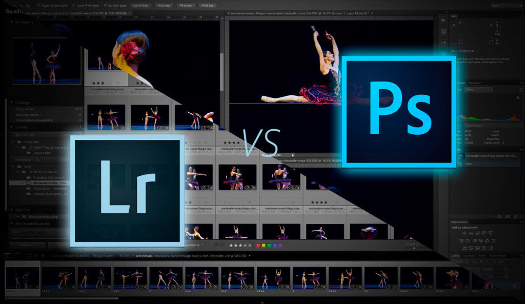 La differenza tra lightroom e photoshop
