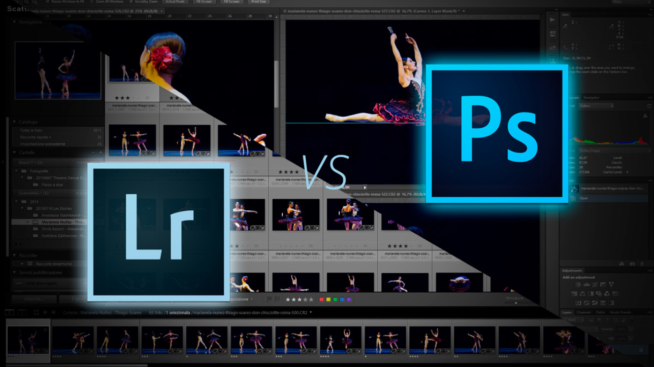 La differenza tra lightroom e photoshop, quale programma scegliere