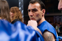 Un primo piano di Emiliano Marsili sul ring
