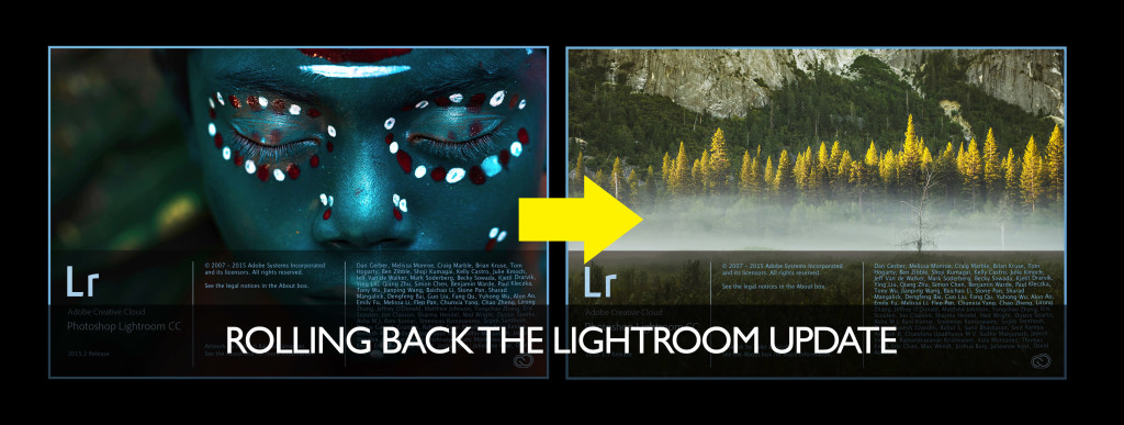 rollback lightroom 6.2