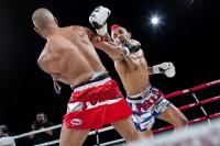 Fotografia Sportiva, momento di un incontro di Muay Thai al Madison Square Garden di New York