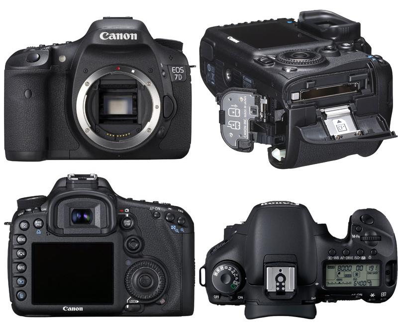 Canon Eos 7D, vista da ogni angolazione
