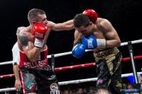 Emanuele Della Rosa colpisce Al Harbi con il sinistro (Boxe)