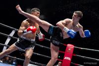 Gabriele Casella in un match di Kick Boxing